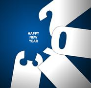 Happy New Year 2013 vector card - stock illustration