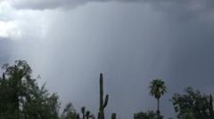 Daytime slo mo closeup powerful wide lightning strike Stock Footage