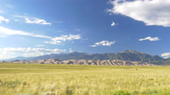 4K time lapse of the Great Sand Dunes in Colorado - slow zoom out - stock footage