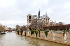 Paris. Notre Dame Cathedral. - stock photo