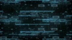 Blue digital art - stock footage