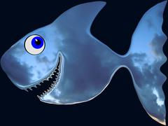 The Deep Sky Fish Stock Illustration
