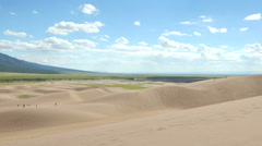 4K timelapse of Great Sand Dunes in Colorado Stock Footage