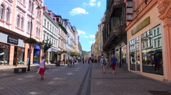 Types of Karlovy Vary. Tomas Garrigue Masaryk street. Bohemia, Czech Republic. Stock Footage