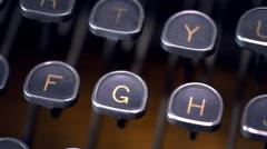Typewriter Keys Rack Focus Close Up Stock Footage