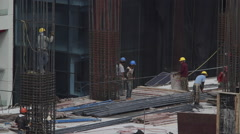 Building construction - stock footage