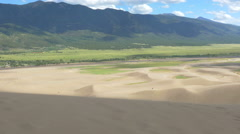Great Sand Dunes in Colorado Stock Footage