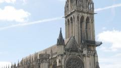 Tilting  on church   Saint-Pierre located in Lower Normandy city of Caen by t Stock Footage