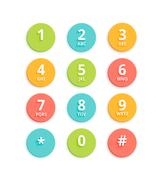 Vector Flat Colored Keypad For Phone Stock Illustration