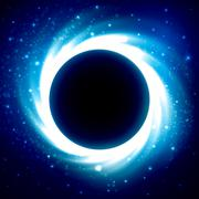 Black Hole in Outer Space. Distant Galaxy Stock Illustration
