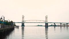 Cape Fear Memorial Bridge in Wilmington, NC Stock Footage