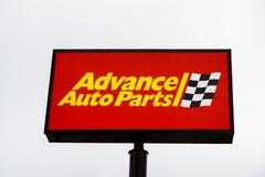 Advance Auto Parts Store Sign and Logo - stock photo