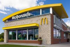 Contemporary McDonald's Restaurant Exterior Stock Photos