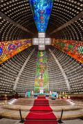 Interior of the metropolitan cathedral - stock photo