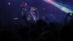 Laser and spotlight show at nightclub party Stock Footage