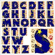 ABC Alphabet lettering design Stock Illustration