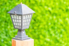 Light lamp in outdoor garden Stock Photos