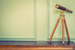 Vintage binocular lens Stock Photos