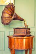 Vintage Gramaphone music box Kuvituskuvat