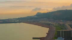 Time-lapse of the coast of Dover, England from the cliffs. Cropped. Stock Footage