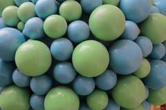 Mixed colorful fruit bonbon close up Stock Photos