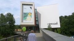 Musee Herge - Tintin Museum - Louvain la Neuve Belgium Stock Footage