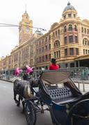 Horse carriage ride in Melbourne Kuvituskuvat