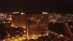 Wynn Casino Aerial Footage, Las Vegas Stock Footage