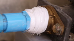 Water leaking from water pipe Stock Footage