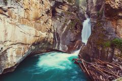 Canyon in Banff NP - stock photo