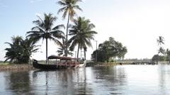 Kerala Back water Lake 16 Stock Footage