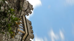 Vertical time-lapse Upward Shot of Leeds Castle Stock Footage