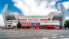 Stock Photo of Exterior of The Philips Stadion. Eindhoven, Netherlands