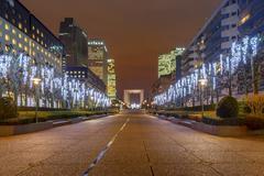 Paris. Night Defense. Stock Photos