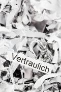 Papierschnitzel keyword confidential Stock Photos