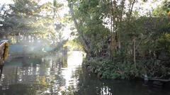 Kerala Back water Lake 07 Stock Footage