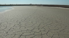 Dry Barren Land Near The River - stock footage