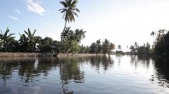 Kerala Back water Lake 09 Stock Footage