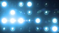 Lights Flashing Spotlight Wall VJ Light Bulb Loop Blue Stock Footage