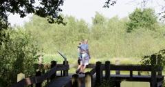 National Park Groote Peel romantic couple, 4K Stock Footage