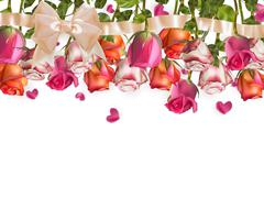Roses and heart shape Petals. EPS 10 Stock Illustration