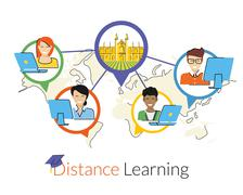 Stock Illustration of Distance learning