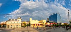 Scanderbeg Square Pristina panoramic Stock Photos