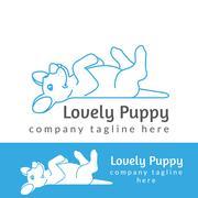Lovely puppy - stock illustration