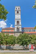 Cathedral of Blessed Mother Teresa tower - stock photo