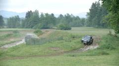 Driving on mud basis - stock footage