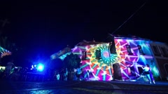 Light paintings on the wall Stock Footage