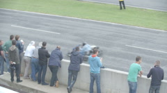 The viewers on go card race Stock Footage