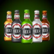 Beer bottles - stock illustration