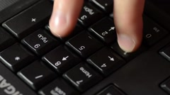 Computer Number Pad Stock Footage